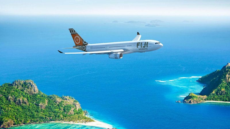 fly first class australia to fiji