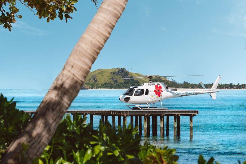 tokoroki island resort fiji helicopter transfers